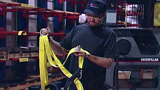 A worker learning how to safely use an order picker