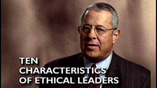 Screenshot from the how to be an ethical leader training video