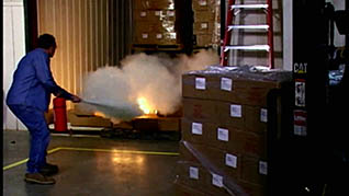 fire extinguisher training in warehouse settings