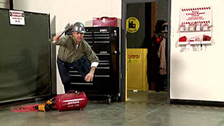 Preventing slips, trips, and falls in an industrial setting