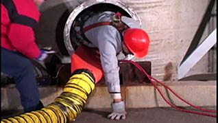 What to do once you've entered a confined space