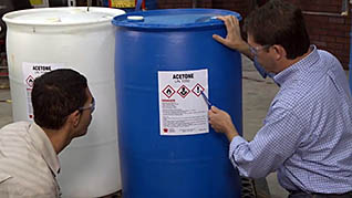 Hazardous chemicals, gases, hazmat, and safety data sheets training