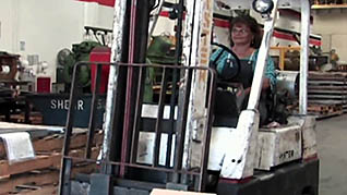 Operating a Forklift with a stability triangle