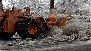 Working with large snow removal vehicles